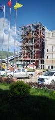 甘肃岷县电厂锅炉浇注料,高铝砖,高强耐磨浇注料施工现场
